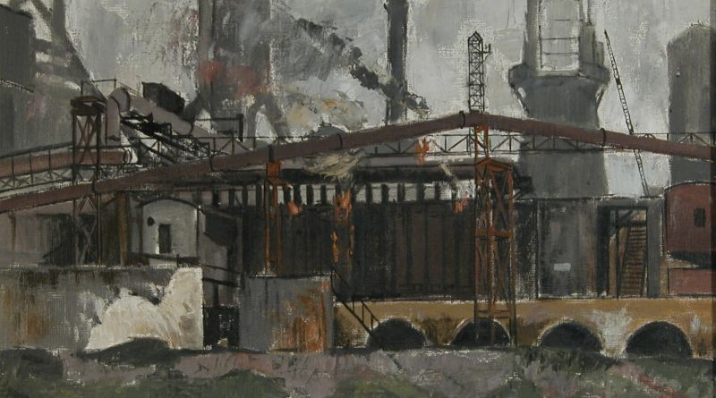Painting of Coke Ovens at Cargo Fleet