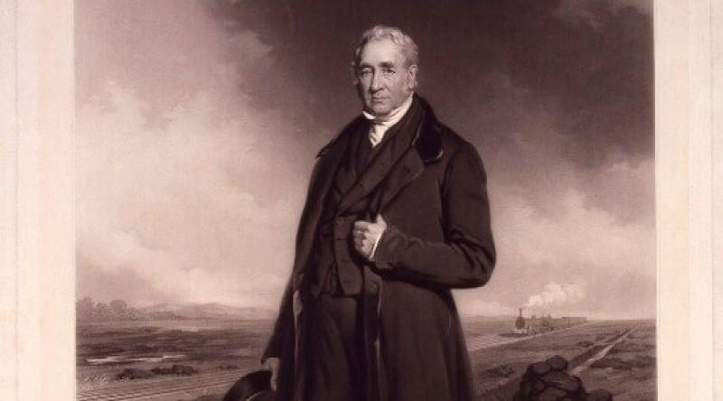 Portrait of George Stephenson