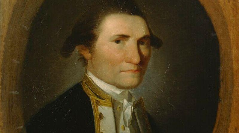 Portrait of Captain James Cook in uniform