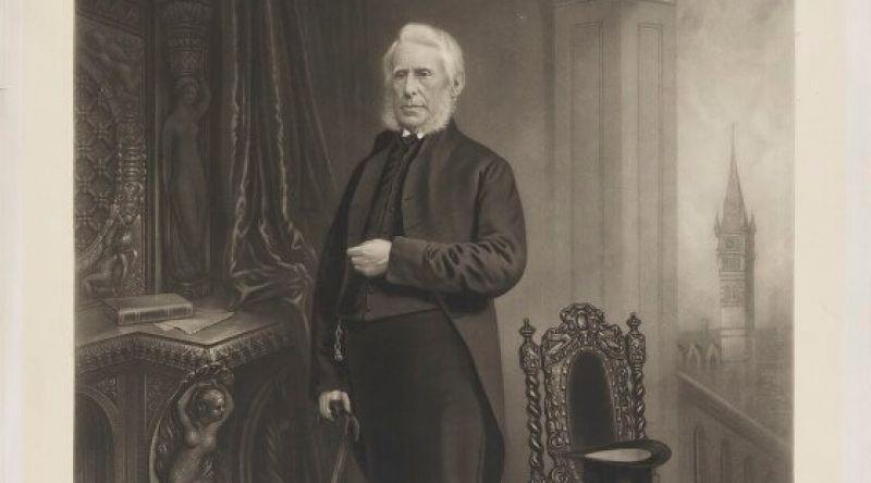 Full length portrait of Joseph Pease