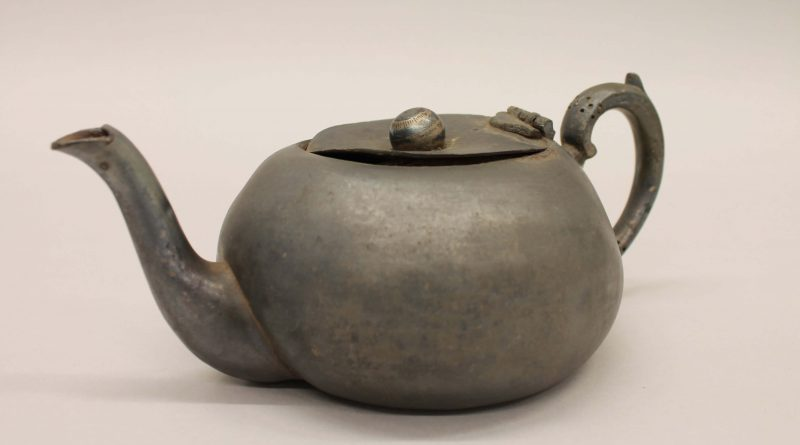 A pewter teapot from Preston Park Museum & Grounds