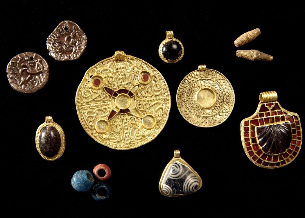 Saxon Jewelery on display at Kirkleatham Museum