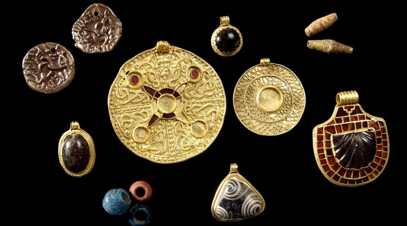 Saxon Jewelery on display at Kirkleatham Museum