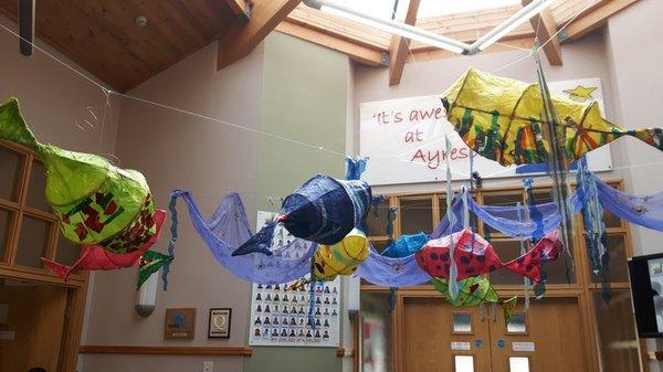 Art installation within a school