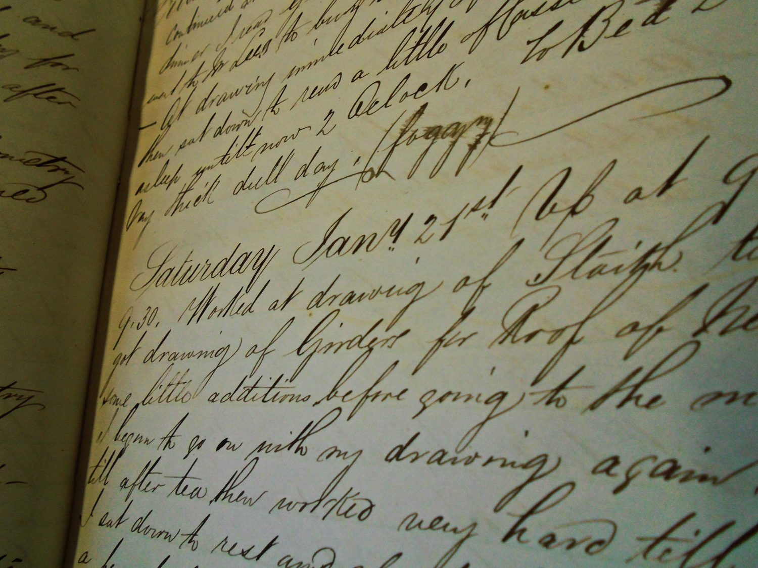 page of cursive handwriting