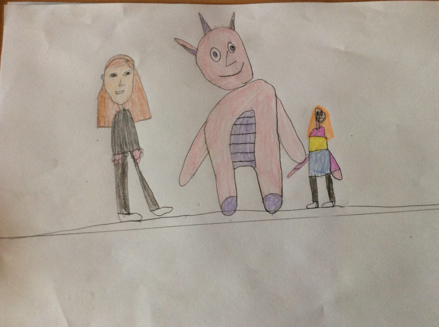 children's drawing For my birthday my mam got me a big unicorn.
