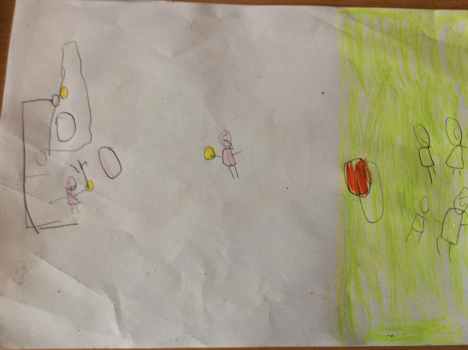 childrens drawing Wen joseph dident have a ball I giv him one.