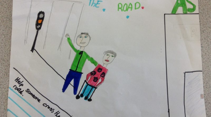 childrens drawing of two people