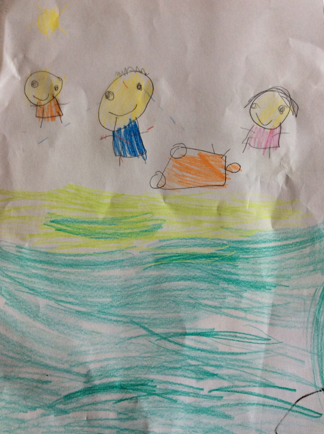childrens drawing of kids playing