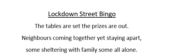 Lockdown Street bingo text