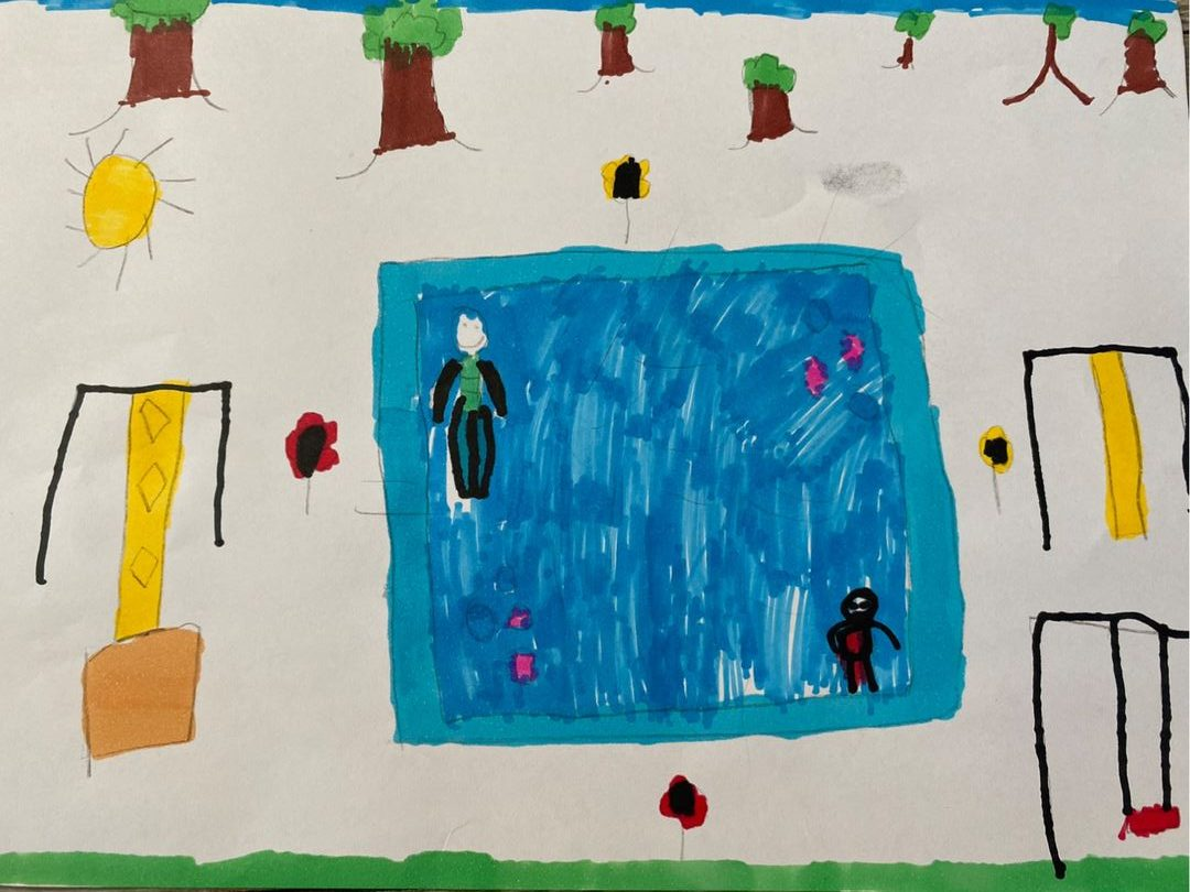 childrens drawing of the park