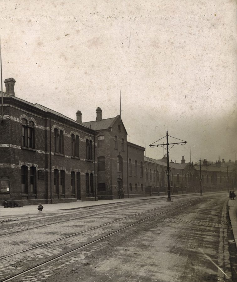 A view outside North Road Locomotive Works, Darlington