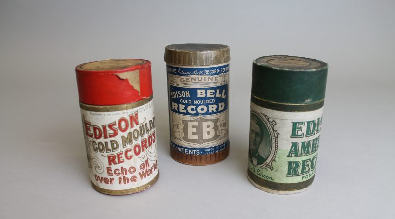 Three wax cylinders