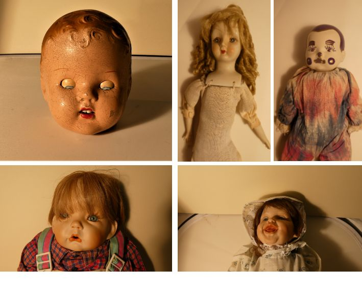photo colleague of creepy dolls from the kirkleatham collection