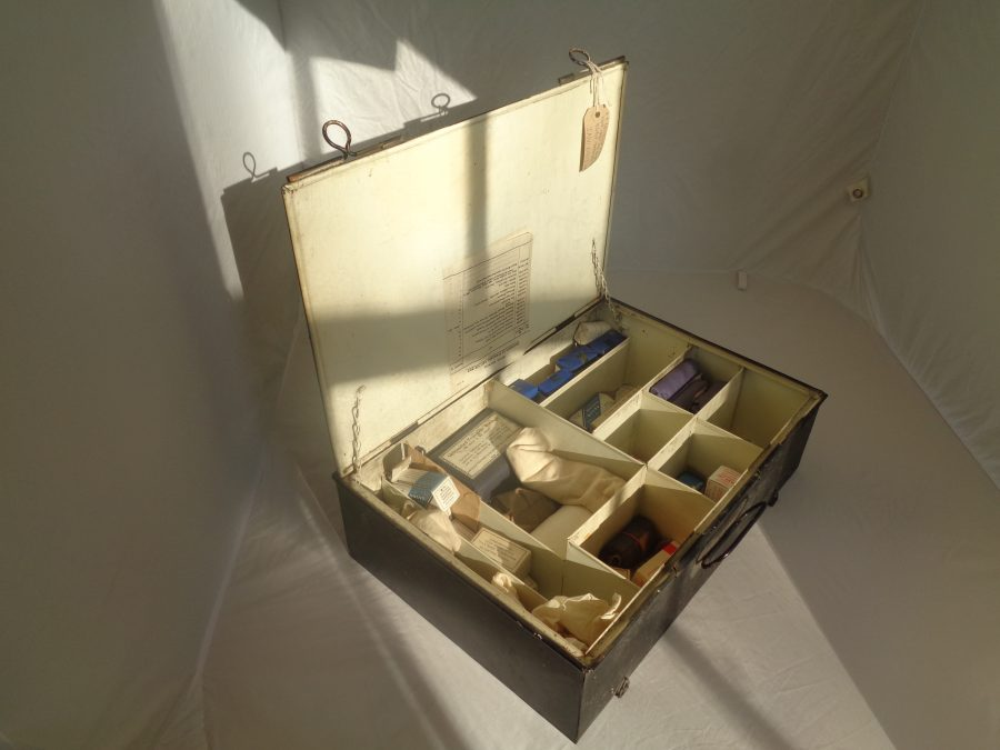 First Aid Box open showing full content
