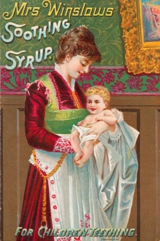 Advert for Mrs Winslow's Soothing Syrup